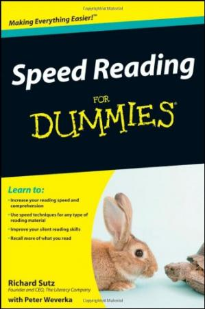 Sampul buku Speed Reading For Dummies