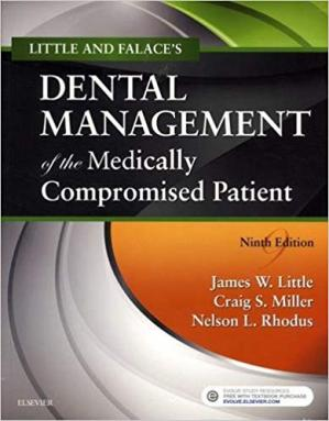 Book cover Little and Falace's Dental Management of the Medically Compromised Patient
