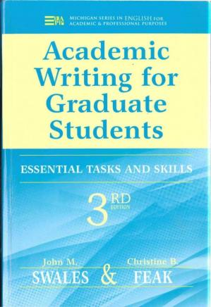 Обкладинка книги Academic Writing for Graduate Students: Essential Tasks and Skills