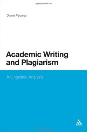 Εξώφυλλο βιβλίου Academic Writing and Plagiarism: A Linguistic Analysis