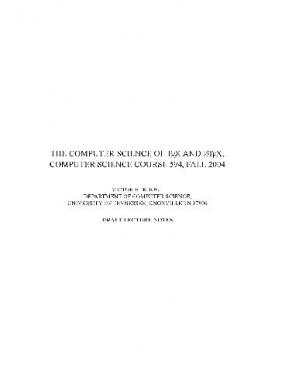 Buchdeckel The computer science of TeX and LaTeX