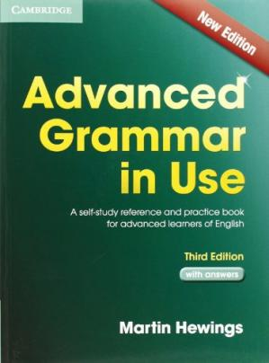 Book cover Advanced Grammar in Use with Answers: A Self-Study Reference and Practice Book for Advanced Learners of English