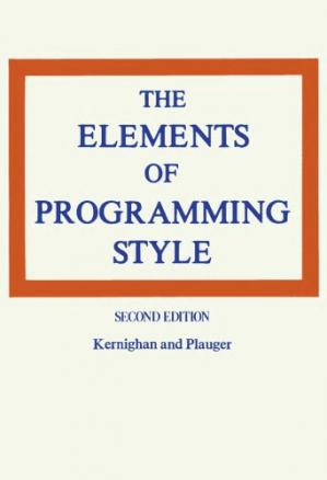 Book cover The Elements of Programming Style