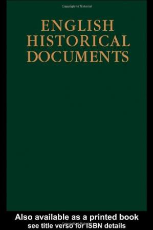 Sampul buku English Historical Documents