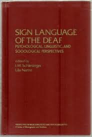 Portada del libro Sign Language of the Deaf. Psychological, Linguistic, and Sociological Perspectives