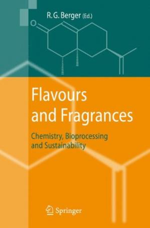 A capa do livro Flavours and Fragrances: Chemistry, Bioprocessing and Sustainability