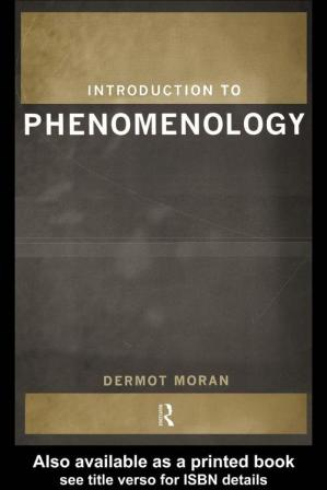 غلاف الكتاب Introduction to Phenomenology