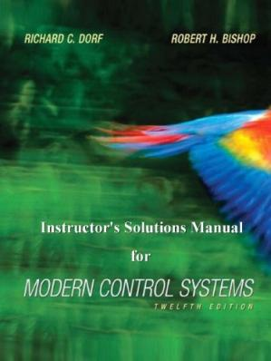 Copertina Instructor's Solutions Manual for Modern Control Systems, 12th Edition
