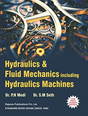 Book cover Hydraulics and fluid mechanics including hydraulic machines