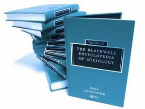 کتاب کی کور جلد The Blackwell Encyclopedia of Sociology