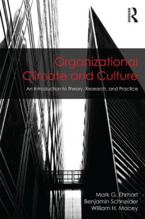 Copertina Organizational Climate and Culture: An Introduction to Theory, Research, and Practice
