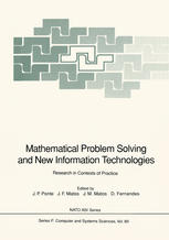 Buchdeckel Mathematical Problem Solving and New Information Technologies: Research in Contexts of Practice