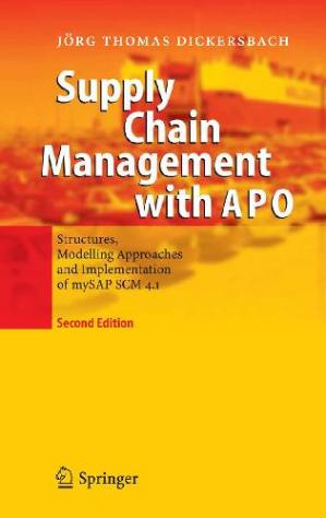 Portada del libro Supply Chain Management with APO Structures Model Approaches and Implementation of mySAP