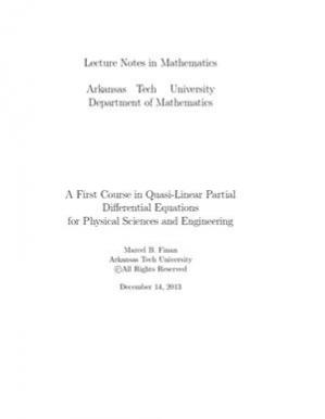 Book cover A First Course in Quasi-Linear Partial Differential Equations for Physical Sciences and Engineering