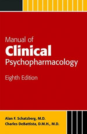 Εξώφυλλο βιβλίου Manual of clinical psychopharmacology