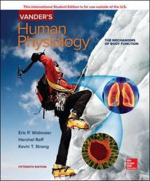 Book cover Vanders Human Physiology