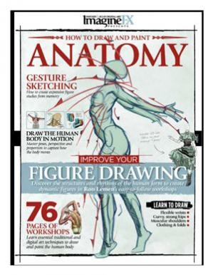 पुस्तक कवर ImagineFX How to Draw and Paint Anatomy vol. 2