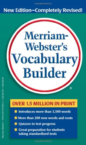 წიგნის ყდა Merriam-Webster's Vocabulary Builder