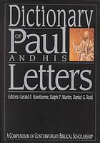 Обложка книги Dictionary of Paul and His Letters A Compendium of Contemporary Biblical Scholarship