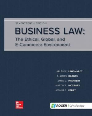Okładka książki Business Law: The Ethical, Global, And E-Commerce Environment