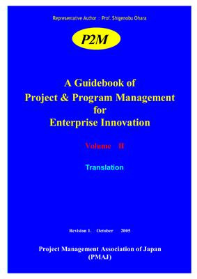 Book cover A Guidebook of Project & Program Management for Enterprise Innovation - Volume II