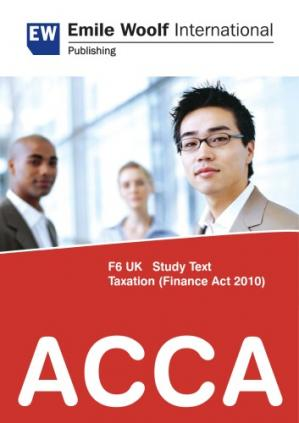 Book cover ACCA F6 UK TAXATION (Finance Act 2010)