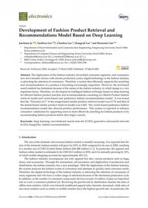 Kulit buku Development of Fashion Product Retrieval and Recommendations Model Based on Deep Learning