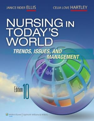 A capa do livro Nursing in Today's World : Trends, Issues & Management , Tenth Edition