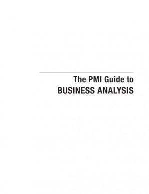 Okładka książki The PMI Guide to BUSINESS ANALYSIS