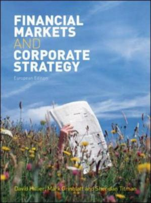 Couverture du livre Financial Markets and Corporate Strategy