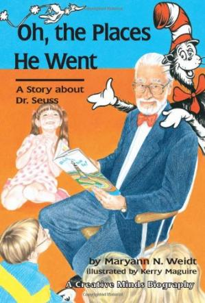 Book cover Oh, the Places He Went: A Story About Dr. Seuss-Theodor Seuss Geisel (Carolrhoda Creative Minds Book)