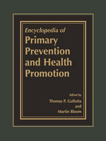 Book cover Encyclopedia of Primary Prevention and Health Promotion