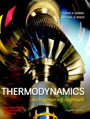 Book cover Instructor Solutions Manual for Thermodynamics: An Engineering Approach