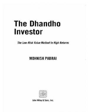 Book cover The dhandho investor: the low-risk value method to high returns