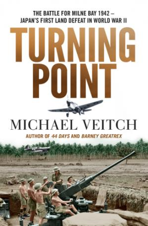 Book cover Turning point: the Battle for Milne Bay 1942 -- Japan's first land defeat in World War II