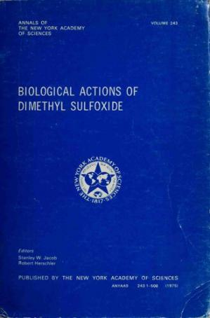 Book cover DMSO : Biological Actions of Dimethyl Sulfoxide DMSO - New York Academy of Sciences