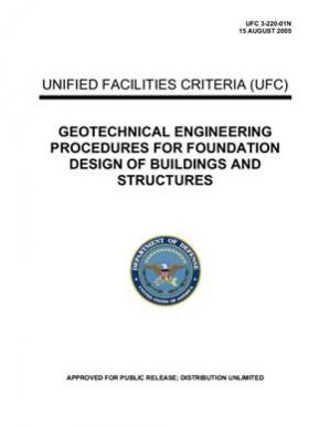 Copertina U.S. Army Corps of Engineers. Geotechnical Engineering Procedures for Foundation Design of Buildings and Structures