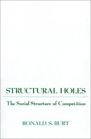 Book cover Structural Holes: The Social Structure of Competition