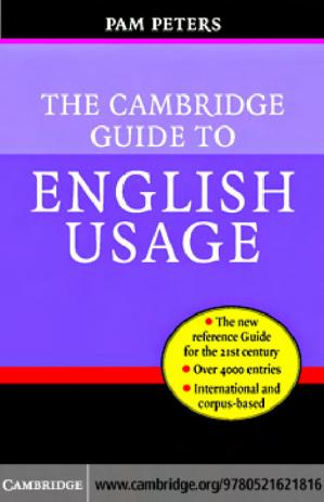Book cover The Cambridge Guide to English Usage