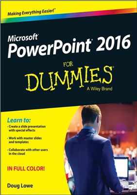 Book cover Microsoft PowerPoint 2016 For Dummies