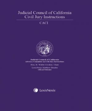 Okładka książki Judicial Council of California Civil Jury Instructions (CACI), 2009 Edition, Volumes I and II
