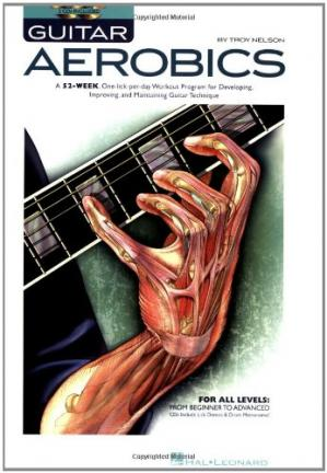 Portada del libro Guitar Aerobics: A 52-Week, One-lick-per-day Workout Program for Developing, Improving and Maintaining Guitar Technique
