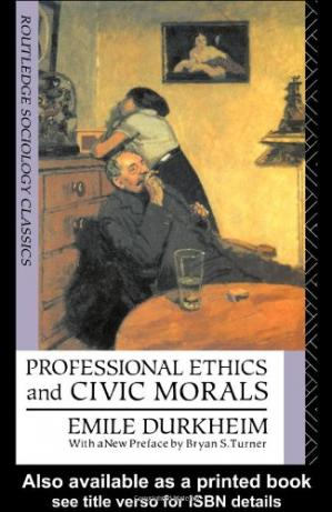 Book cover Professional Ethics and Civic Morals