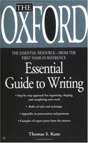 کتاب کی کور جلد The Oxford Essential Guide to Writing