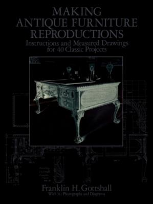 Εξώφυλλο βιβλίου Making Antique Furniture Reproductions: Instructions and Measured Drawings for 40 Classic Projects