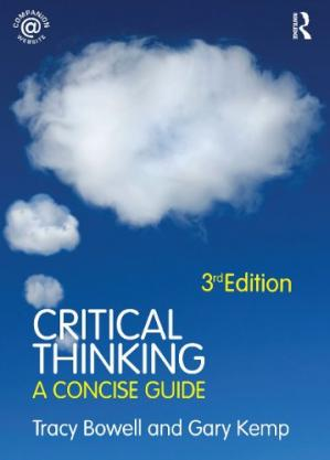 Book cover Critical Thinking: A Concise Guide, 3rd Edition