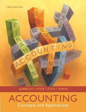 书籍封面 Accounting: Concepts and Applications , Tenth Edition