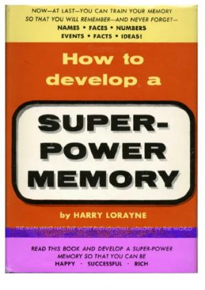 Book cover How to Develop a Super Power Memory