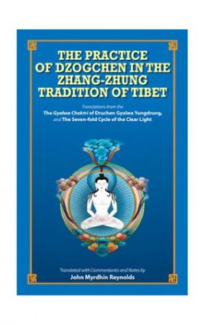 Buchdeckel The practice of Dzogchen in the Zhang-Zhung tradition of Tibet : translations from the Bonpo Dzogchen practice manual : The Gyalwa Chaktri of Druchen Gyalwa Yungdrung and The seven-fold cycle of the clear light, the dark retreat practice from the Zhang-zh