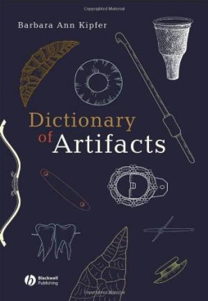 Book cover Dictionary of Artifacts
